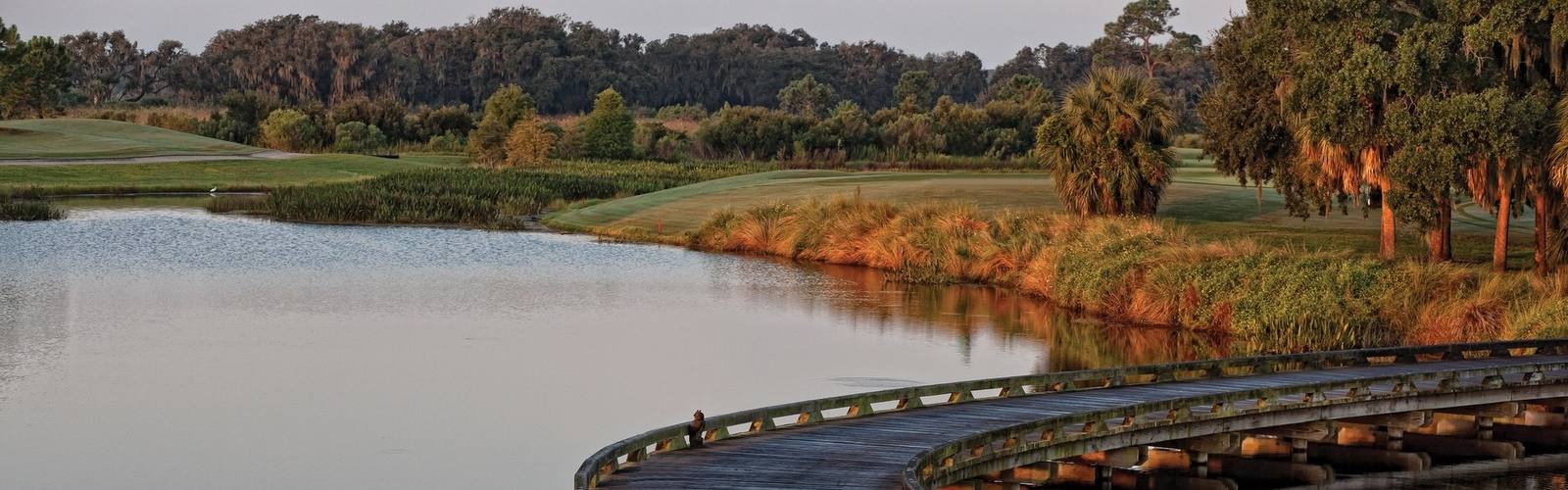 Golf Course Lake and Bridge